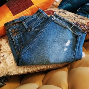 Abercrombie & Fitch Distressed Bermuda Shorts